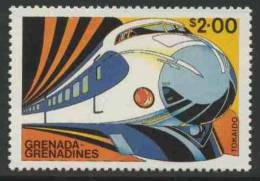 "Grenada Grenadines 1982 Mi 500 YT 460 ** ""Tokaido Shinkansen ""Hikari"", Japan – Famous Trains / Zug / Trein - Eisenbahnen"