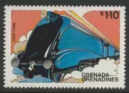 """Grenada Grenadines 1982 Mi 499 YT 459 ** """"Mallard"""", Great Britain – Famous Trains / Zug / Trein - Eisenbahnen"""