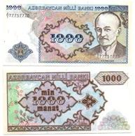 Azerbaijan - 1000 Manat 1993 XF+/aUNC P. 20a Serie A/1 77757770 Lemberg-Zp - Azerbaïdjan