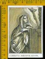 Santino Dipinto A Mano Santa Birgitta - Santini