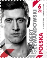 Poland Pologne 2018, Football: Robert Lewandowski,  Bayern ** - Non Classés