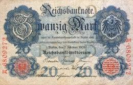 Germany 10 Mark, DEU29/Ro.31 (1908) - IV/Fine - [ 2] 1871-1918 : Impero Tedesco