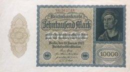 Germany 10.000 Mark, DEU-78c/Ro.69c (1922) - EF/XF - [ 3] 1918-1933: Weimarrepubliek