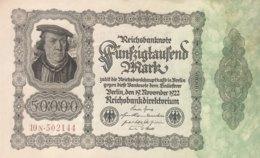 Germany 50.000 Mark, DEU-90d/Ro.79d (1922) - AU - [ 3] 1918-1933 : Weimar Republic