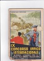 IX CONCORSO IPPICO INTERNAZIONALE ROMA PIAZZA DI SIENA 1934 PROGRAMMA  - TORNEO POLO - Programmi