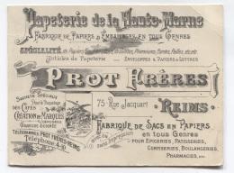 51 - REIMS - PAPETERIE DE LA HAUTE-MARNE - PROT FRERES - CE N'EST PAS UNE CP - BELLE PUBLICITE - Reims