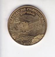 Jeton Médaille Monnaie De Paris MDp Château De Chenonceau 2007 - Monnaie De Paris