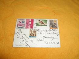CARTE POSTALE DE 1961 AVEC 5 TIMBRES REP. SAN MARINO + CACHETS.. - Saint-Marin