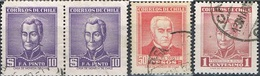 1956/59 - CILE / CHILE - PERSONAGGI FAMOSI / CELEBRITIES. USATO/USED - Cile