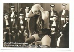 CPM Humour Sexiste Avocat - Femme Guêpière Bas - Pour Défendre Une Cause Un Avocat Met Sa Robe Une Femme L'enlève.. - Humour