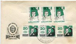 MATASELLOS HOMENAJE A BENITO NARDONE 1985 CORREOS DEL URUGUAY SOBRE FDC - LILHU - Uruguay
