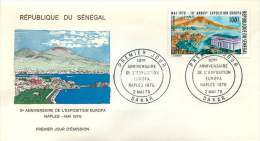 SENEGAL  1970   10è Ann. De L'exposition Europa    FDC Non Adressé - Senegal (1960-...)