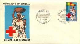 SENEGAL  1963 Croix-Rouge Sénégalaise   FDC Non Adressé - Senegal (1960-...)