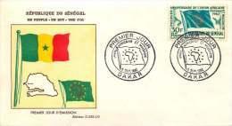 SENEGAL  1962  Union Africaine Et Malgache   FDC Non Adressé - Senegal (1960-...)