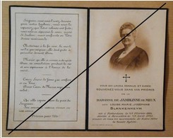 Baronne Louise De Jamblinne De Meux, Née Blankenheym - Rotterdam , Bruxelles - 1925 - Obituary Notices