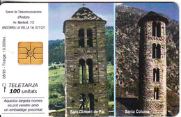 ANDORRA - Sant Climent De Pal/Santa Coloma, Tirage 10000, 08/95, Used - Andorra