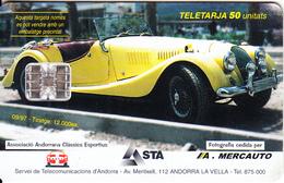 ANDORRA - A.Mercauto, Ferrari 166 F2 1950, Tirage 12000, 09/97, Used - Andorra