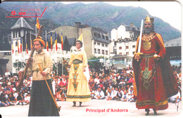 ANDORRA(chip) - Gegants, Tirage 9000, 10/95, Used - Andorra