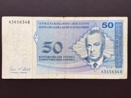 BOSNIA P57 50 CONV PFENIGA 1998 VG - Bosnie-Herzegovine