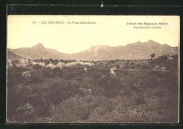 CPA Port Louis, Landschaftspanorama Avec Chemin De Ferbrücke Et Gebirge - Maurice