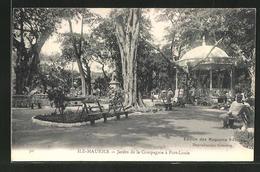 CPA Port-Louis, Jardin De La Compagnie - Maurice