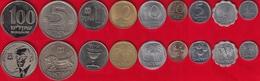 Israel Set Of 9 Coins: 1 Agora - 100 Sheqalim 1960-1985 AU-UNC - Israel