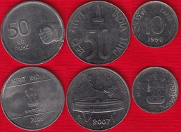 India Set Of 3 Coins: 10 - 50 Paise 1990-2008 - India