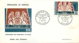 1964  Sauvetage Des Monuments De Nubie - Poste Aérienne - FDC - Senegal (1960-...)