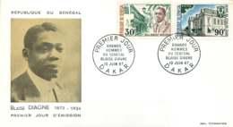 1967- Blaise Diagne, Hôtel De Ville De Dakar - FDC - Senegal (1960-...)