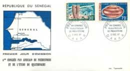 1967- Congrès Africain De Préhistoire - Mégalithe, Bol Couvert - FDC - Sénégal (1960-...)