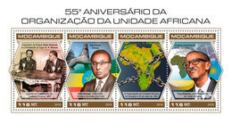 MOZAMBIQUE 2018 - G. A. Nasser, African Unity. Official Issue - Célébrités