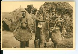 CP Ruanda-Urundi Nettoyage Du Sorgho Cliché Germain Van Den Eeckhaut Nels Années 1920 Ss. Détachée D'un Carnet - Ruanda-Urundi