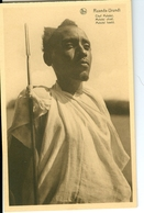 CP Ruanda-Urundi Chef Mututsi Cliché Germain Van Den Eeckhaut Nels Années 1920 Ss. Détachée D'un Carnet - Ruanda-Urundi