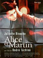 AFFICHE  PLIE  ORIGINAL DU FILM ALICE ET MARTIN  AVEC JULIETTE BINOCHE   120 X 160 CM - Posters
