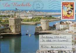 L) 2004 FRANCE, MICKEY, DISNEY, CITY, LA ROCHELLE, ARCHITECTURE, BOAT, AIRMAIL - Airmail