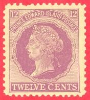 Canada Prince Edward Island # 16 Mint N/H F/VF  - Queen Victoria ''Cents'' Issue - Prince Edward Island