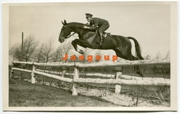 Photo Postcard Military Argentina Army Captain Horse Riding Equestrian 1938 - War, Military