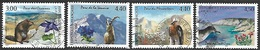 France  1995-7   Sc#2514-6, 2572  4 Diff National Parks Used   2016 Scott Value  $3.55 - Francia