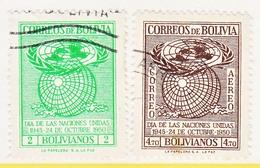 Bolivia  340-41   (o)  UNITED  NATIONS - Bolivie
