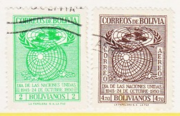 Bolivia  340-41   (o)  UNITED  NATIONS - Bolivia