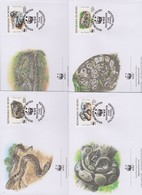 World Wide Fund For Nature 1999 Benin Regal Python,Set 4 Official First Day Covers - FDC