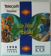 NEW ZEALAND - GPT Set Of 5 - 1998 NZ Holidays - 650ex - NZ-CP-63 - MINT In Folder - NZ Collector Pack - New Zealand
