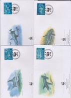 World Wide Fund For Nature 1999 Montserrat Great Hammerhead Shark ,Set 4 Official First Day Covers - FDC