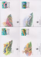 World Wide Fund For Nature 1999 Niue Nudibranches ,Set 4 Official First Day Covers - FDC