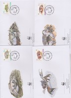 World Wide Fund For Nature 2000 Cocos Keelind Islands Crabs ,Set 4 Official First Day Covers - FDC