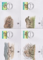 World Wide Fund For Nature 2000 Djibouti Phacochoerus ,Set 4 Official First Day Covers - FDC