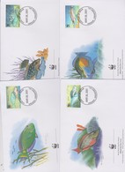 World Wide Fund For Nature 2001 Grenada Grenadines Fishes ,Set 4 Official First Day Covers - FDC