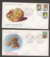 1965  Fruits Et Arachides - 2 FDC - Senegal (1960-...)