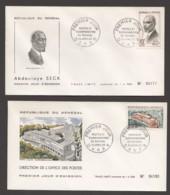 1965  Postes Et Télécommunications - Abdoulaye Seck Et Direction Des PTTT - 2 FDC - Senegal (1960-...)