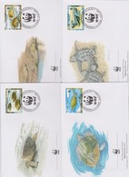 World Wide Fund For Nature 2001 S Tome E Principe Turtles ,Set 4 Official First Day Covers - FDC